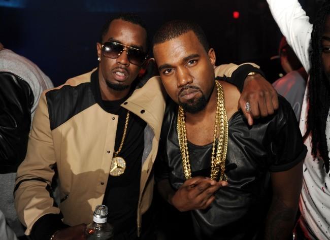 P. Diddy et Kanye West lors de la soirée d'anniversaire de DJ Khaled à Miami, le 26 novembre 2012.