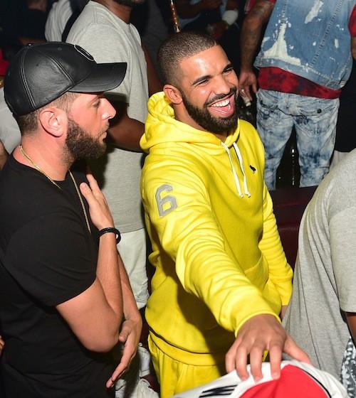 Drake en boîte avec Kanye West à Atlanta, le 24 juin 2015