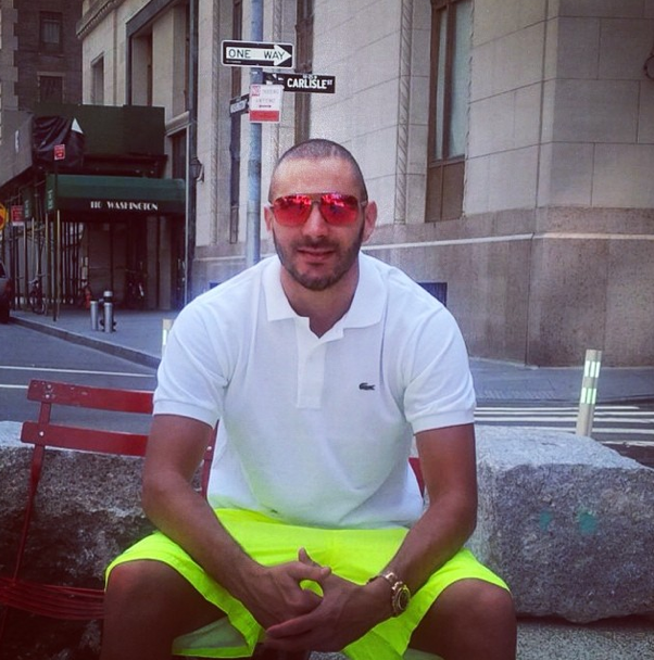 Karim Benzema à New York, le 23 juillet 2014