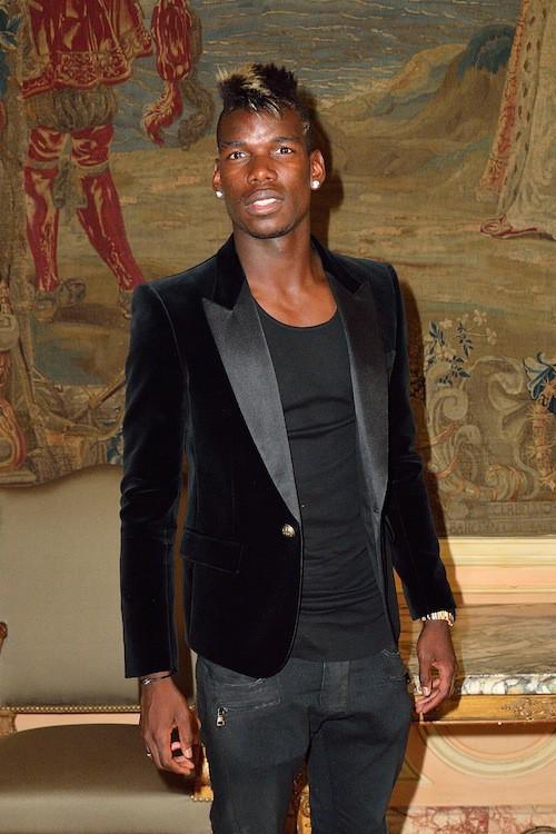 Paul Pogba au défilé Balmain Homme à Paris, le 27 juin 2015!
