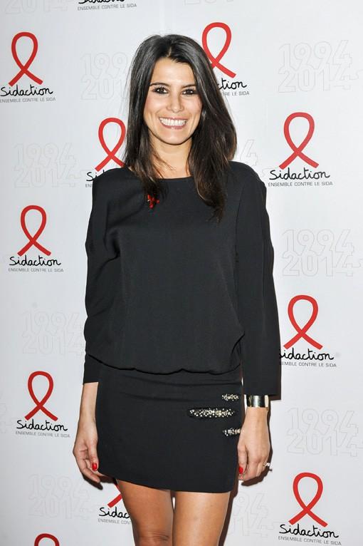 Karine Ferri à la soirée de lancement du Sidaction organisée le 11 mars 2014 au Musée du Quai Branly