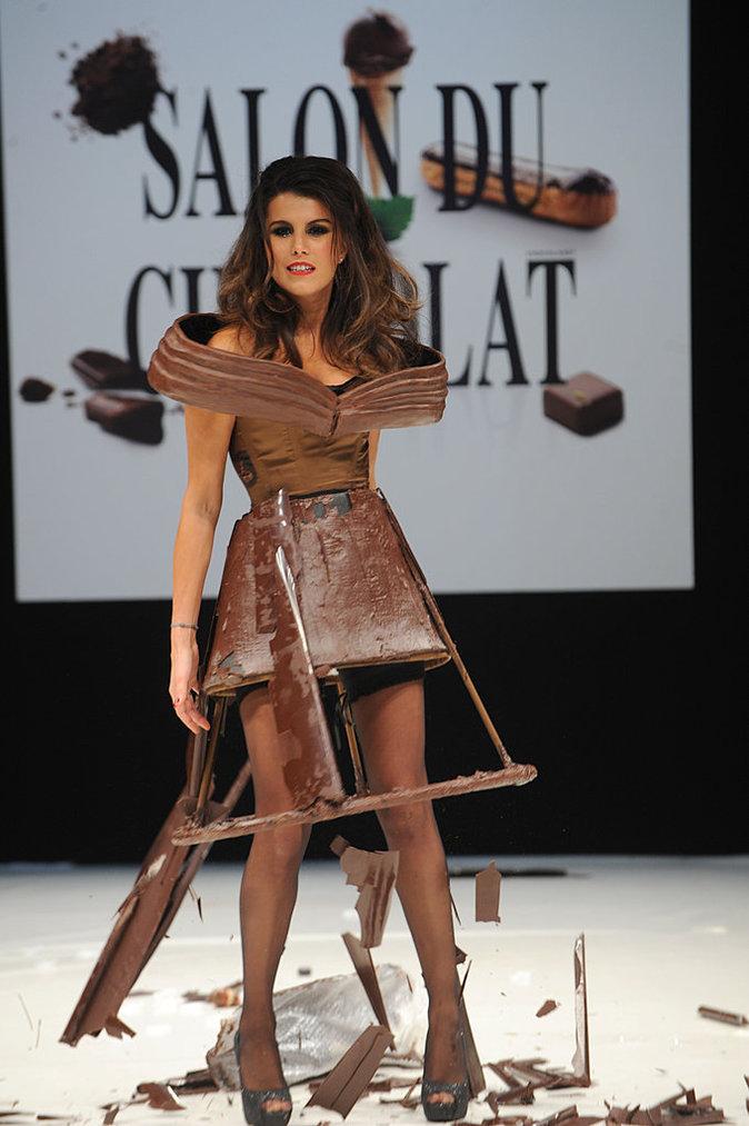 Karine Ferri au salon du chocolat en 2011