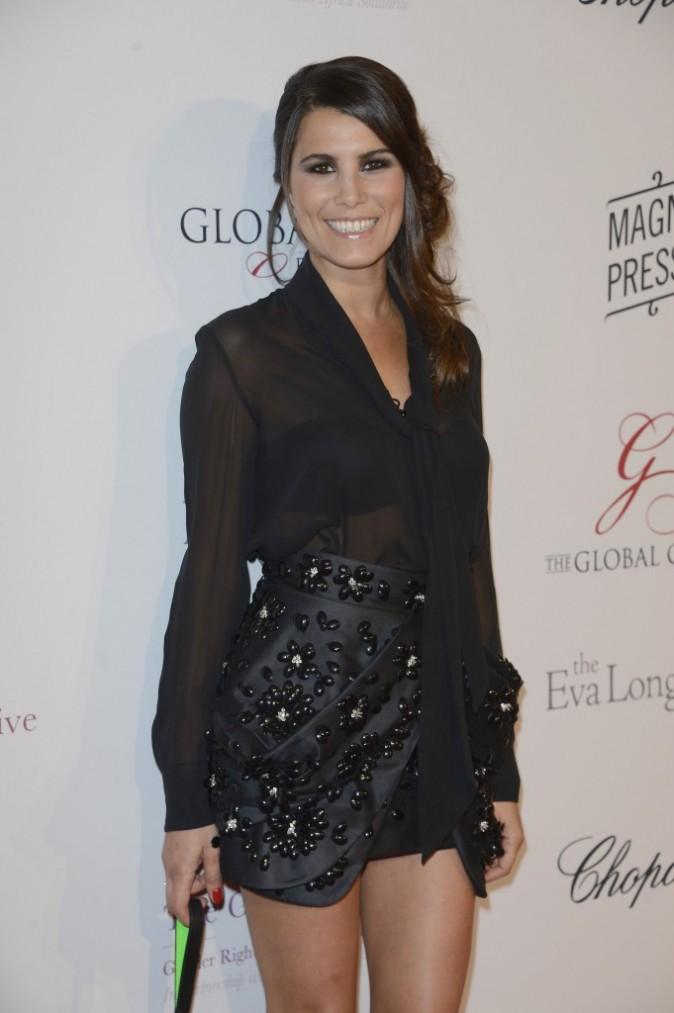 Karine Ferri lors du Global Gift Gala à Paris, le 13 mai 2013.