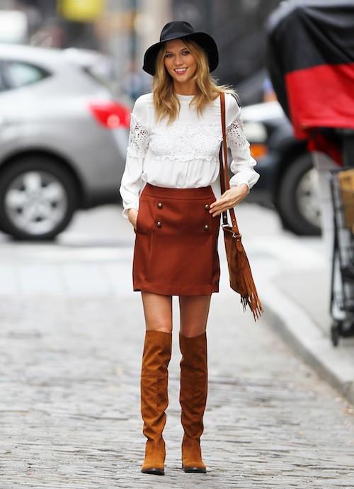 Photos : Karlie Kloss déjà en automne, elle irradie !