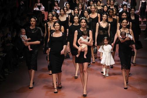 Défilé Dolce & Gabbana le 1er mars 2015 lors de la Fashion Week de Milan