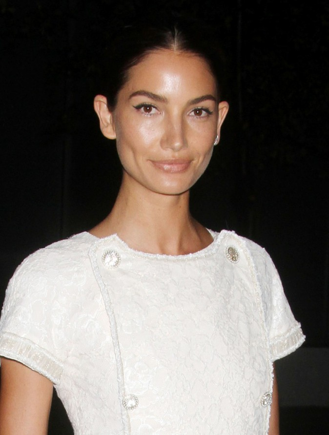 Lily Aldridge à New York le 13 octobre 2014