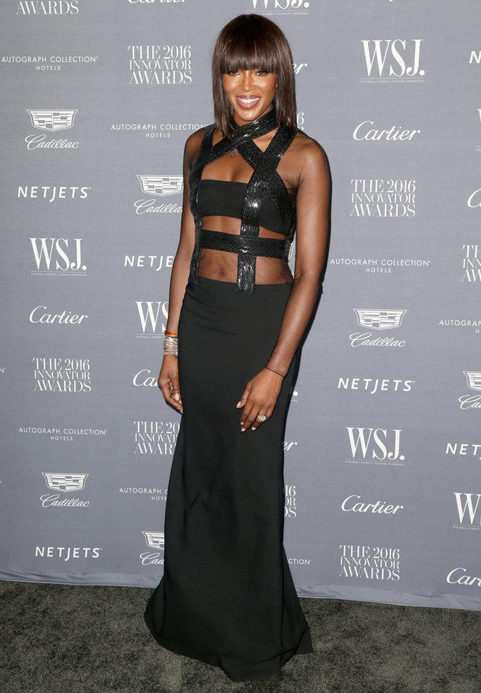 Photos : Naomi Campbell pour les Wall Street Journal Innovator Awards