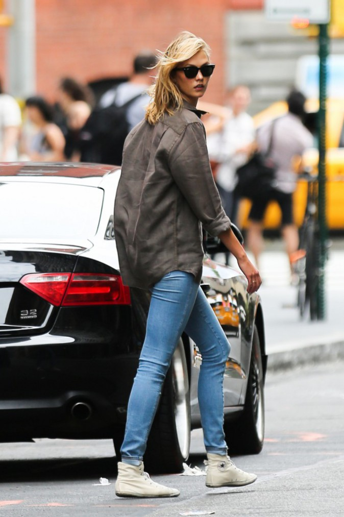 Karlie Kloss à New York le 24 août 2014