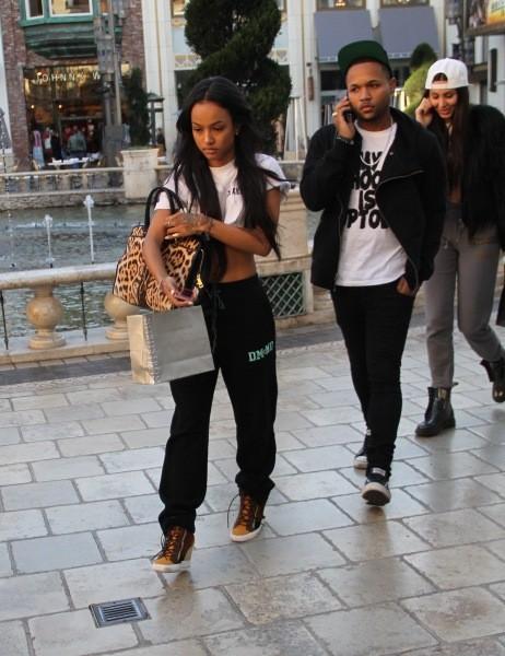 Karrueche Tran et J. Ryan La Cour en plein shopping à Hollywood, le 11 février 2013.