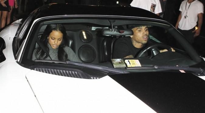 Chris Brown et Karrueche Tran à Hollywood le 16 septembre 2012