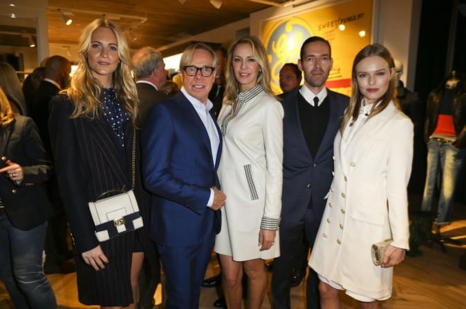 Poppy Delevingne, Tommy Hilfiger et sa femme Dee Ocleppo, et Kate Bosworth et son mari Michael Polish lors de l'inauguration de la nouvelle boutique...
