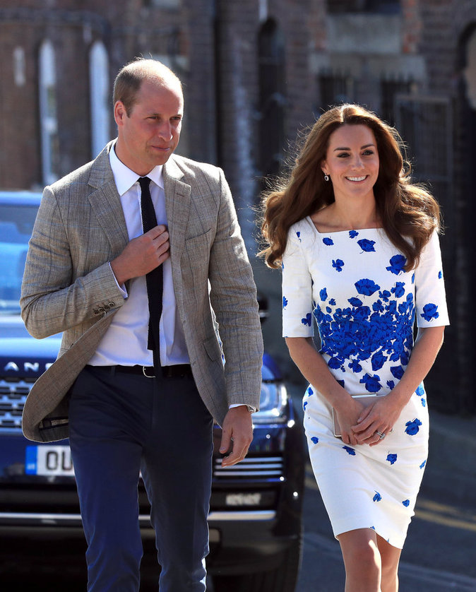 Kate et William arrivent à Luton, le 24 août 2016
