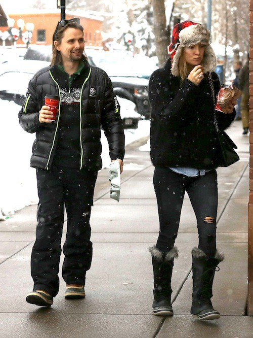 Photos : Kate Hudson : elle retrouve Matthew Bellamy pour Noël !