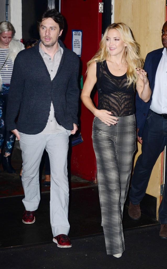 Kate Hudson et Zach Braff à Londres le 18 septembre 2014