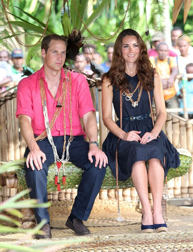 Kate Middleton et le prince William le 17 septembre 2012 à Honiara, dans l'île de Guadalcanal