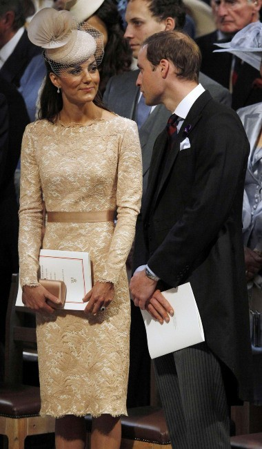 Kate Middleton et le prince William dans la cathédrale St Paul, le 5 juin 2012.
