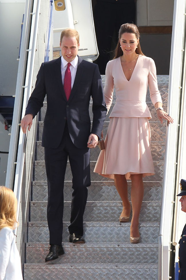 Kate Middleton et le Prince William à leur arrivée à Adelaïde le 23 avril 2014