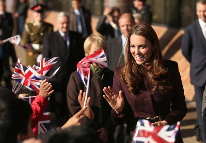 Kate Middleton en solo à Newcastle le 10 octobre 2012