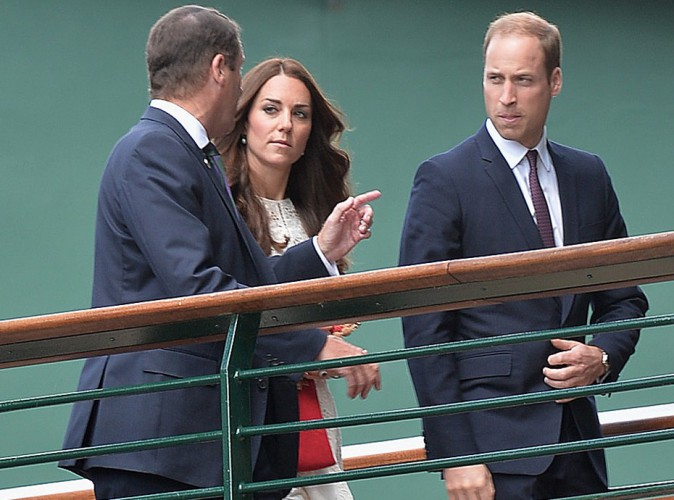 Philip Brook, Kate Middleton et le prince William au tournoi de Wimbledon le 2 juillet 2014