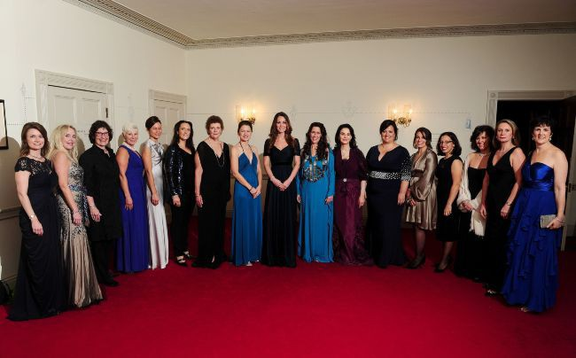 "Kate Middleton lors du dîner de gala ""Action on Addiction"" organisé par ""100 Women in Hedge Funds Philanthropic Initiatives"" à Londres, le 24 oct..."