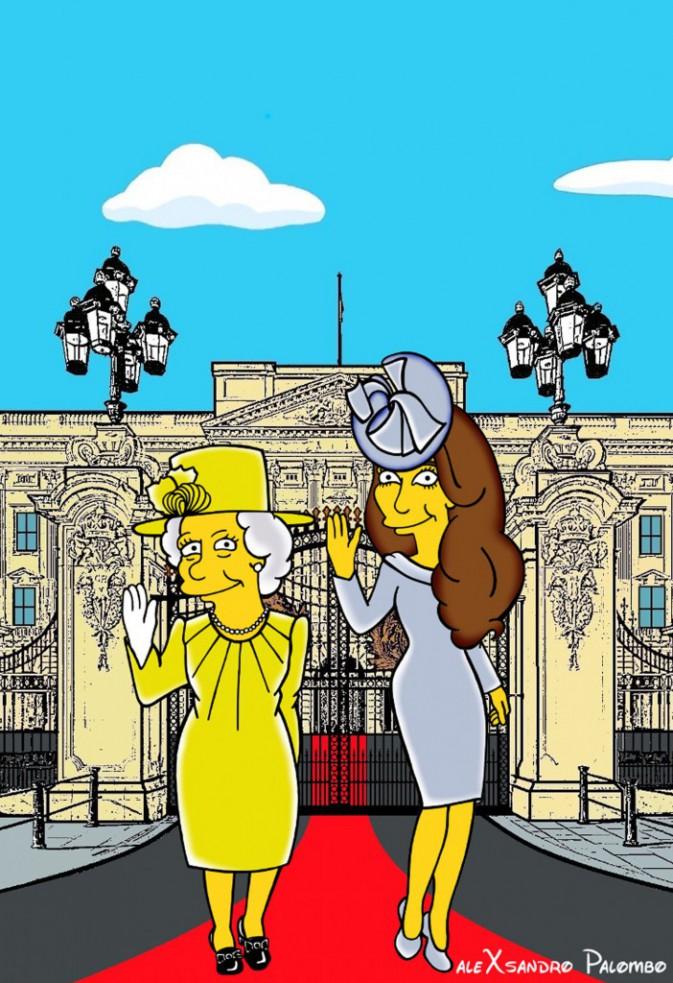 Kate Middleton, dessinée façon Simpson par l'artiste Alexsandro Palombo.