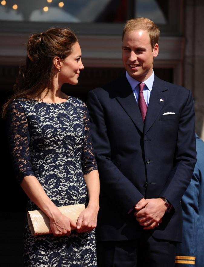 Kate Middleton et le prince William arrivent à Rideau Hall pour entamer leur premier voyage officiel à l'étranger, le 30 juin 2011.