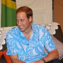Le Prince William le 16 septembre 2012 à Honiara