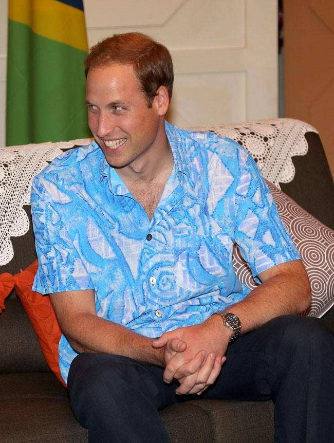 Le Prince William le 16 septembre 2012 à Honiara