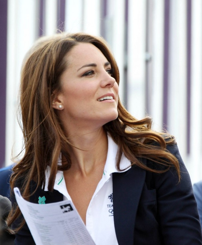 Kate Middleton et le Prince William supporters de Zara Phillips aux JO de Londres le 30 juillet 2012