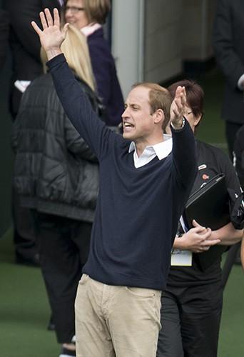 Le Prince William à Dunedin le 13 avril 2014