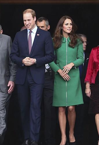 Kate Middleton et le Prince William à Cambridge le 12 avril 2014