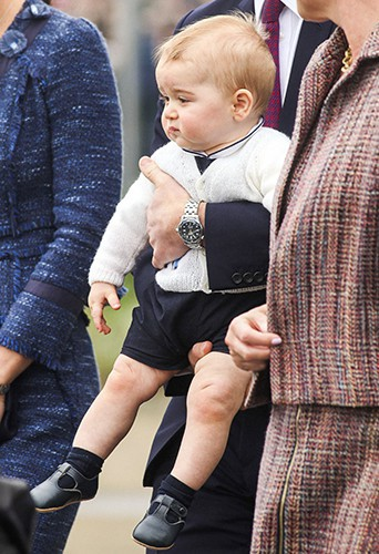 Le Prince George à Wellington le 16 avril 2014