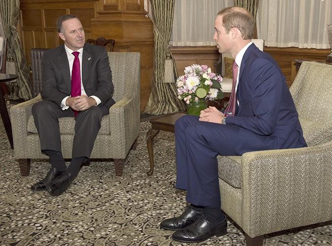 David Cunliffe et le Prince William à Wellington le 10 avril 2014
