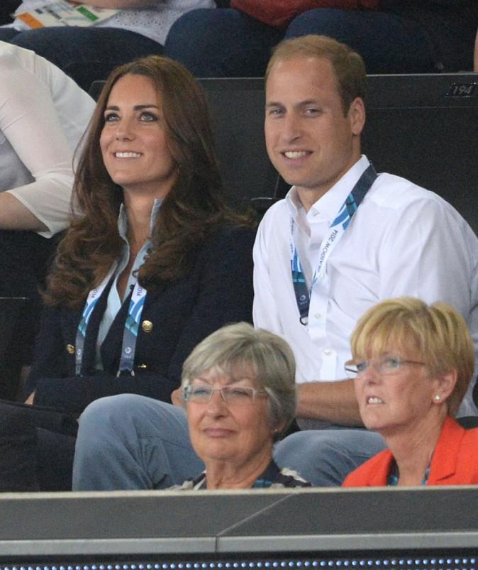 Le prince Harry, le prince William, duc de Cambridge et Catherine Kate Middleton, duchesse de Cambridge assistent aux XXèmes Jeux du Commonwealth