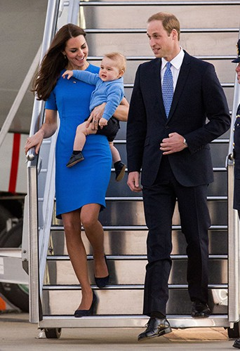 Kate Middleton, Prince William et leur petit George à Canberra le 20 avril 2014