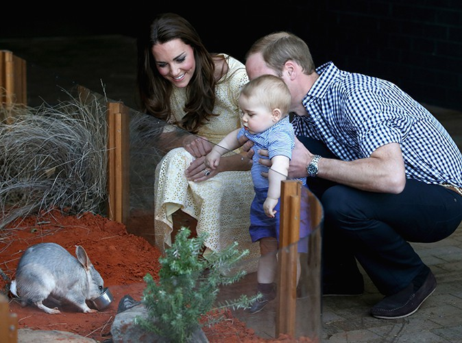Kate Middleton, Prince William et leur petit George à Sydney le 20 avril 2014