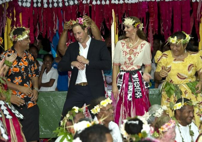 Kate Middleton et le Prince William sur l'île de l'île de Tuvalu le 18 septembre 2012