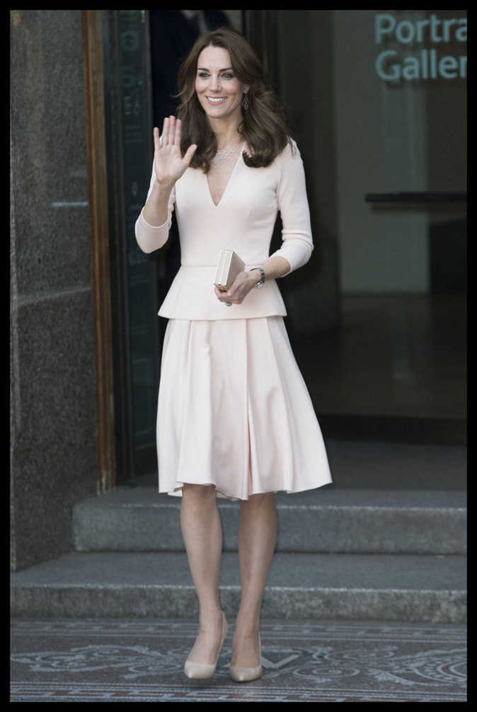 Kate Middleton à la National Portrait Gallery de Londres