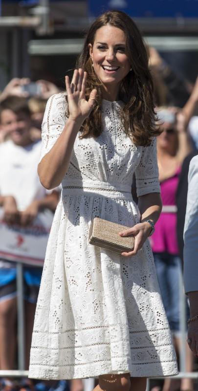"Kate Middleton lors du ""Royal Easter Show"" à Sydney, le 18 avril 2014."