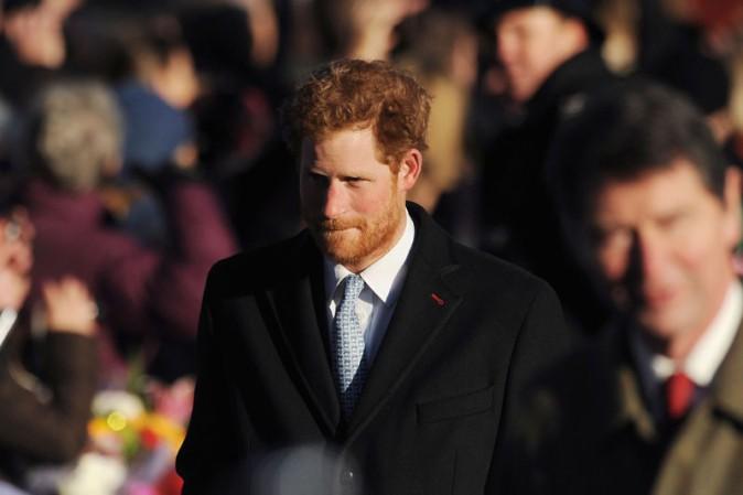 Prince Harry à la messe de Noël célébrée en l'église St Mary Magdalene le 25 décembre 2013