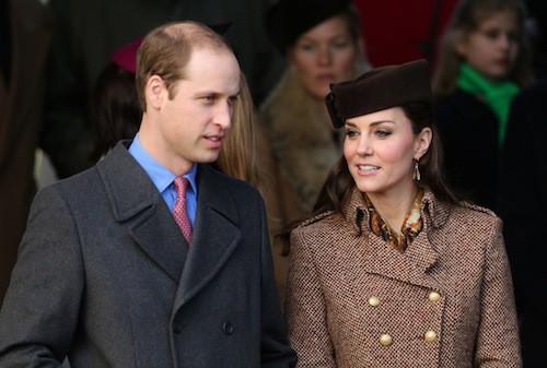 Kate Middleton et le prince William à Sandringham, le 25 décembre 2014