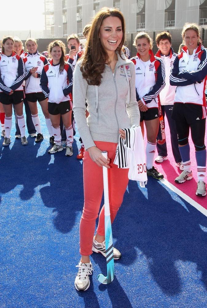 Photos : Kate Middleton rencontre l'équipe de hockey féminine de Grande-Bretagne, en 2012