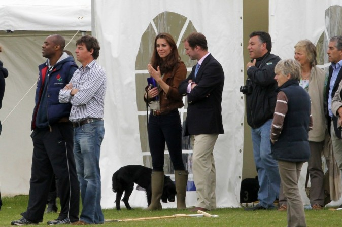 Kate Middleton lors d'un match de polo dans le Gloucestershire, le 17 juin 2012.