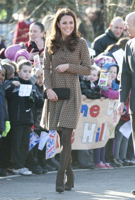 Kate Middleton se rendant à la fondation The Art Room à Oxford, le 21 février 2012.