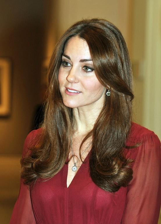 Kate Middleton au National Portrait Gallery de Londres le 11 janvier 2013