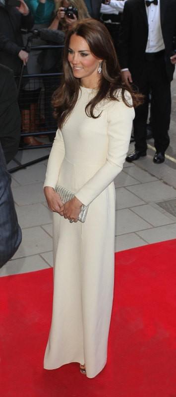 Kate Middleton se rendant au Claridge Hotel à Londres, le 8 mai 2012.