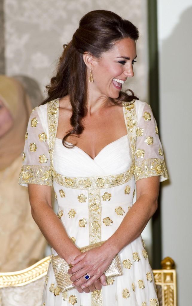 Kate Middleton lors du dîner organisé par le Sultan de Kedah en Malaisie, le 13 septembre 2012.