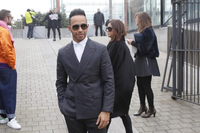 Lewis Hamilton à Paris le 22 janvier 2015