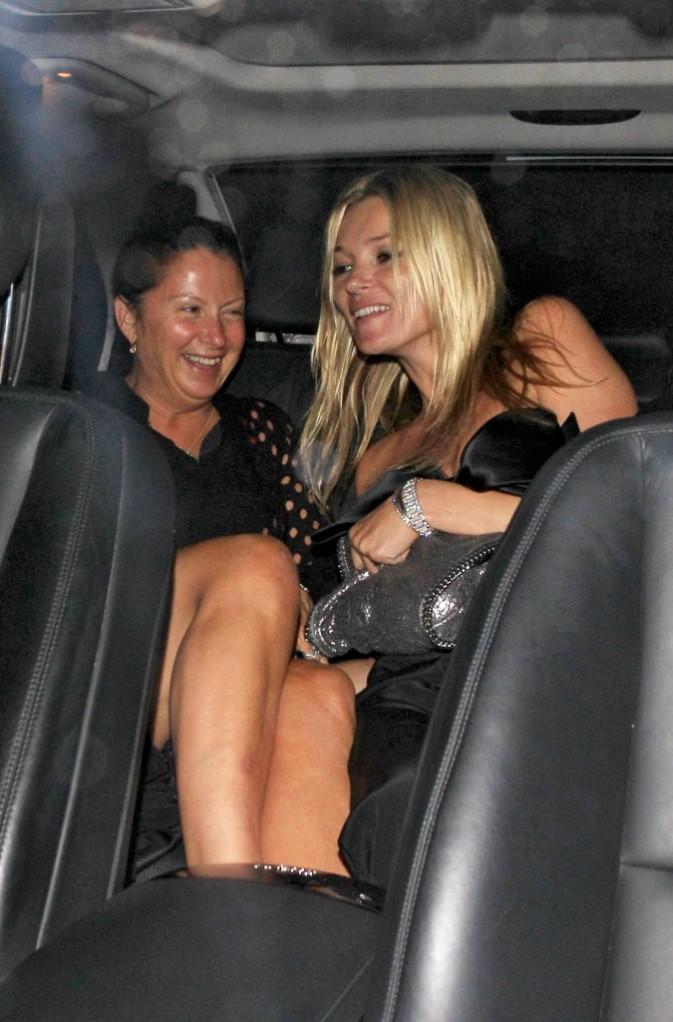 Kate Moss après l'anniversaire de Stella McCartney à Londres, le 13 septembre 2011.