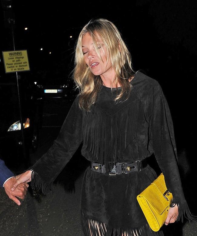 Kate Moss le 17 septembre 2012 à Londres